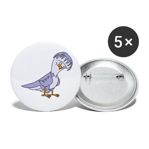 Taube von dodocomics - Buttons klein 25 mm (5er Pack)