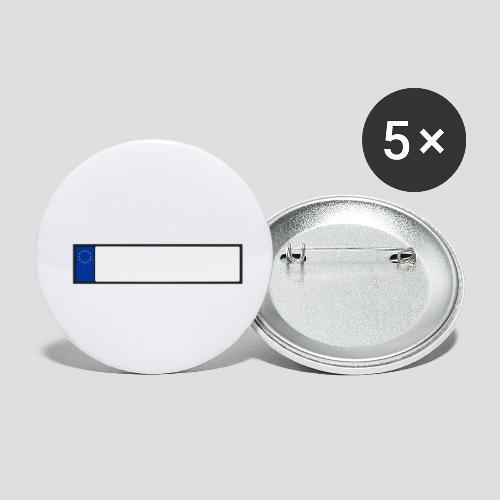 EU - Kennzeichen - Buttons klein 25 mm (5er Pack)