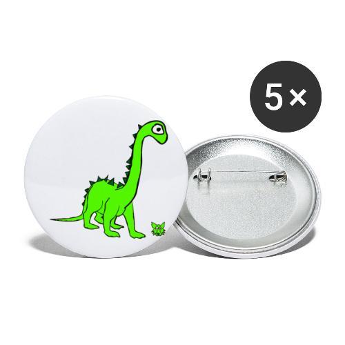 dinosauro - Confezione da 5 spille piccole (25 mm)
