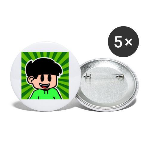 En Glad Linus - Små knappar 25 mm (5-pack)