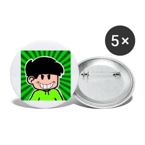 Linus e lite mindre glad - Små knappar 25 mm (5-pack)