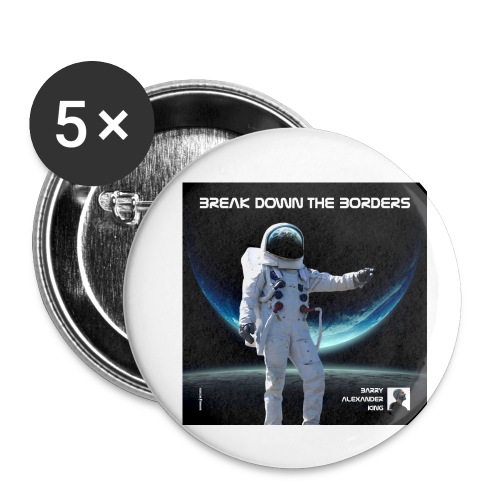 Break Down The Borders - Buttons small 1''/25 mm (5-pack)