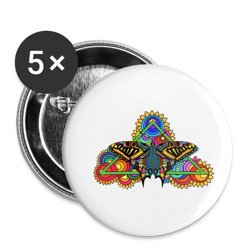 Happy Butterfly! - Buttons klein 25 mm (5er Pack)