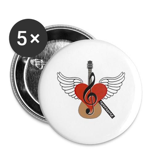 Tapferherz Musik - Buttons klein 25 mm (5er Pack)