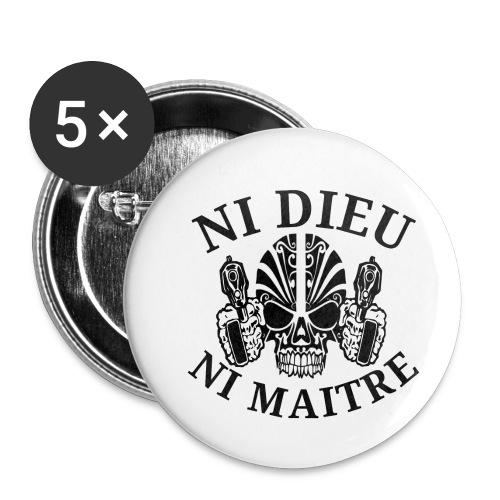 ni dieu ni maitre 1 - Lot de 5 petits badges (25 mm)
