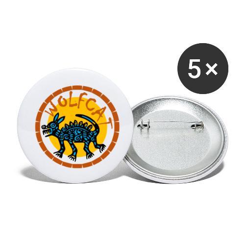 WolfCat - Lot de 5 petits badges (25 mm)