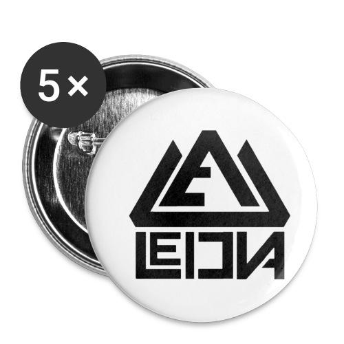LEDUNA BLACK LOGO - Små knappar 25 mm (5-pack)