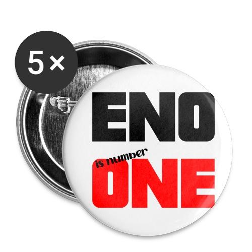 eno is number one - retro / musta - Rintamerkit pienet 25 mm (5kpl pakkauksessa)