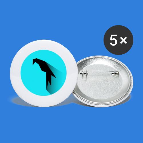 Parrot Logo - Buttons small 1''/25 mm (5-pack)