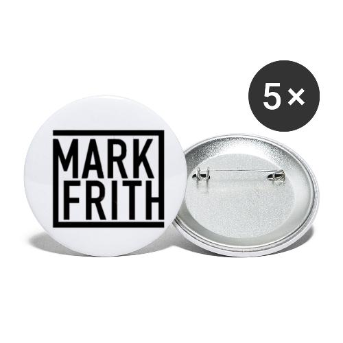 MARK FRITH Logo BLACK - Buttons small 1''/25 mm (5-pack)