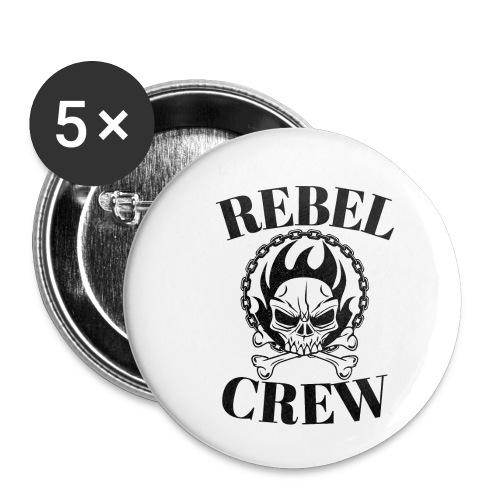 rebel crew - Lot de 5 petits badges (25 mm)