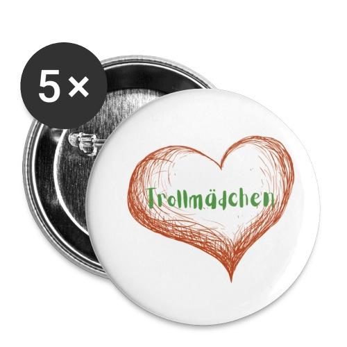 Trollmädchen - Buttons klein 25 mm (5er Pack)