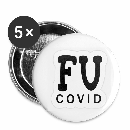 fu covid - Buttons small 1''/25 mm (5-pack)