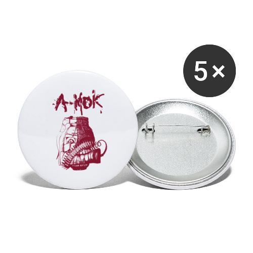 AMOK Grenade Logo Rot - Buttons klein 25 mm (5er Pack)