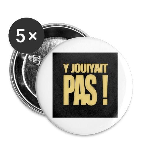 badgejouiyaitpas - Lot de 5 petits badges (25 mm)
