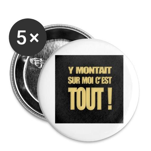 badgemontaitsurmoi - Lot de 5 petits badges (25 mm)