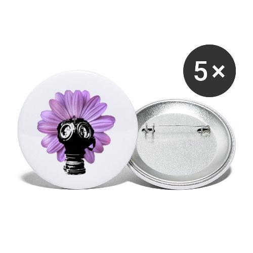FleurMasque - Lot de 5 petits badges (25 mm)