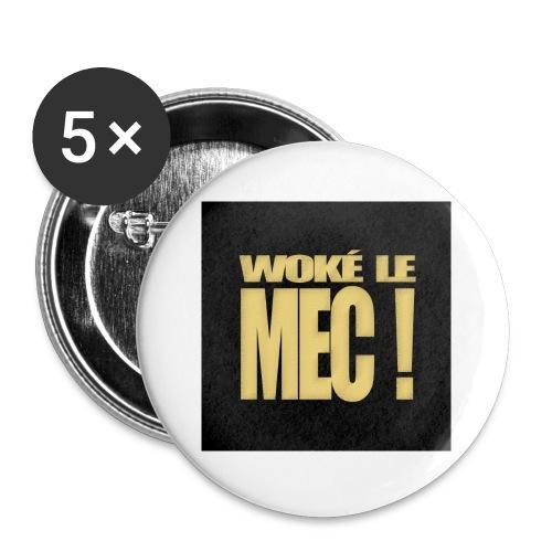 badgewoke - Lot de 5 petits badges (25 mm)