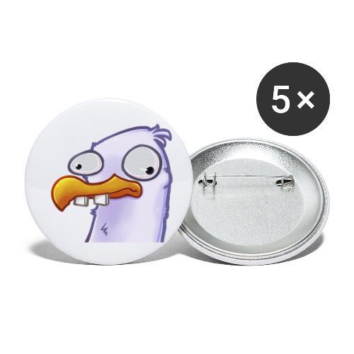 Derp-Möwe - Buttons klein 25 mm (5er Pack)