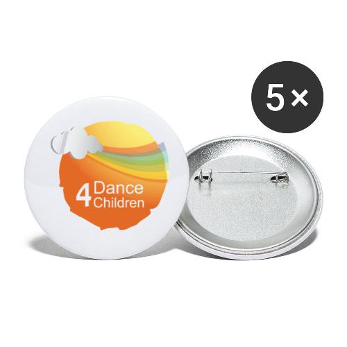 Dance4Children Logo - Buttons klein 25 mm (5-pack)