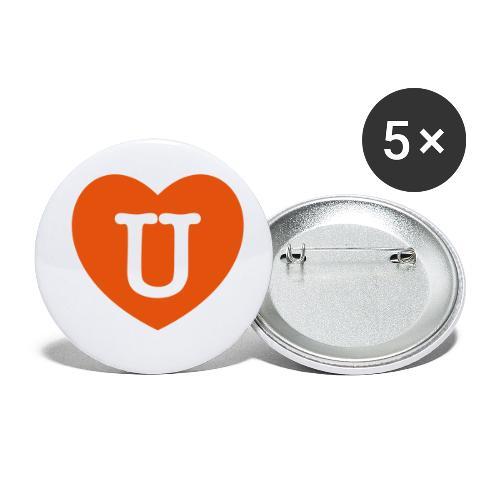 LOVE- U Heart - Buttons small 1''/25 mm (5-pack)