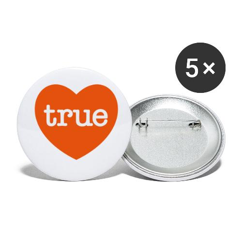 TRUE LOVE Heart - Buttons small 1''/25 mm (5-pack)