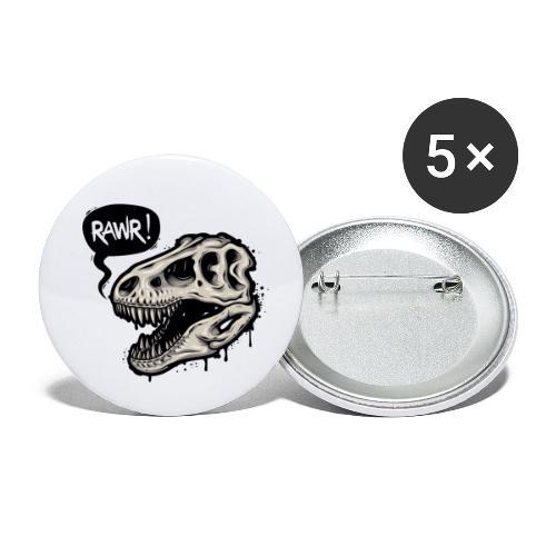 DINO RAWR 1 - Paquete de 5 chapas pequeñas (25 mm)