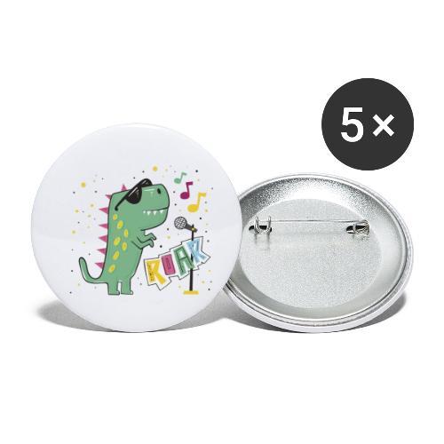 DINO MUSIC 1 - Paquete de 5 chapas pequeñas (25 mm)