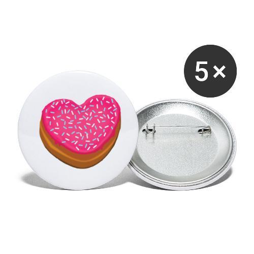 Donitsi - donut - Rintamerkit pienet 25 mm (5kpl pakkauksessa)
