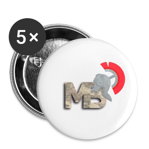 TheMBmulti Logo - Buttons small 1''/25 mm (5-pack)