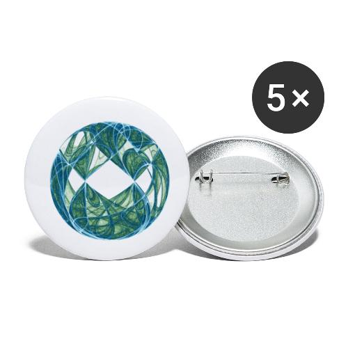 Harmonie im Ozean der Elemente 446oce - Buttons klein 25 mm (5er Pack)