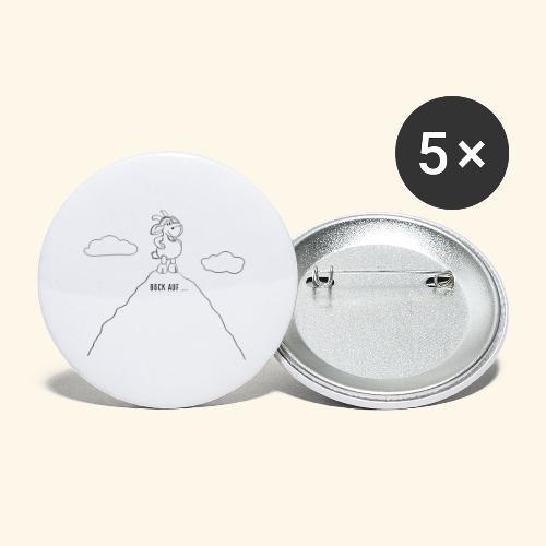 Schafbock: Bock auf ... - schwarz - Buttons klein 25 mm (5er Pack)