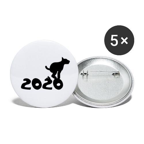 2020 - Sch* drauf! - Buttons klein 25 mm (5er Pack)