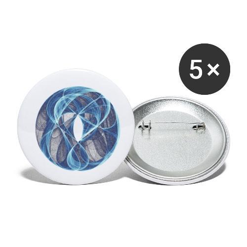 Winde des Herzens 10051ice - Buttons klein 25 mm (5er Pack)