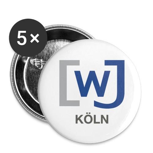WJ Köln - Buttons klein 25 mm (5er Pack)