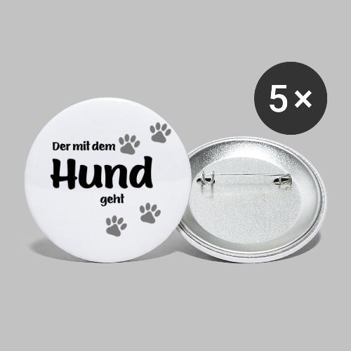 Der mit dem Hund geht - Colored Paw - Buttons klein 25 mm (5er Pack)