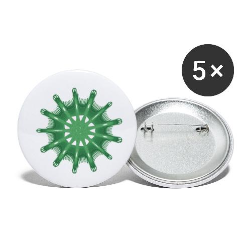 green steering wheel Green starfish 9376alg - Buttons small 1''/25 mm (5-pack)