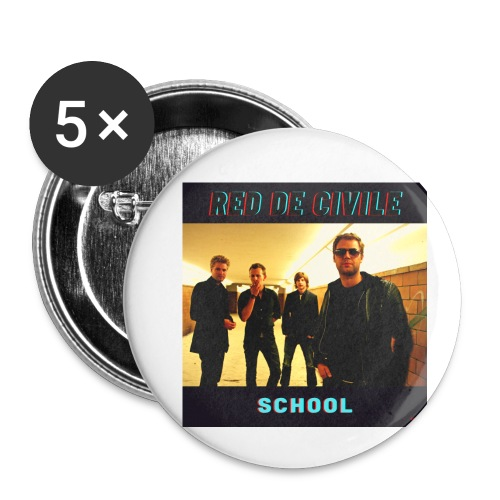 School - Buttons/Badges lille, 25 mm (5-pack)