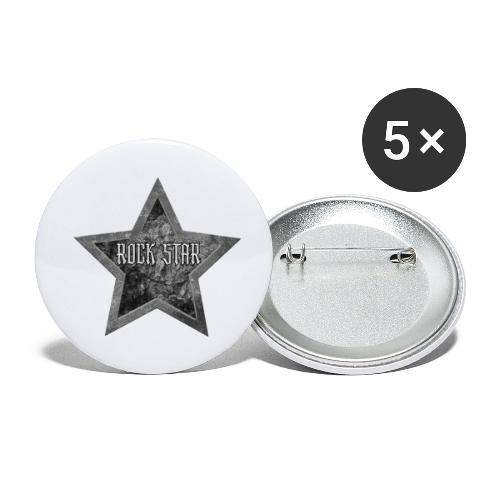 Rock Star - Buttons klein 25 mm (5-pack)
