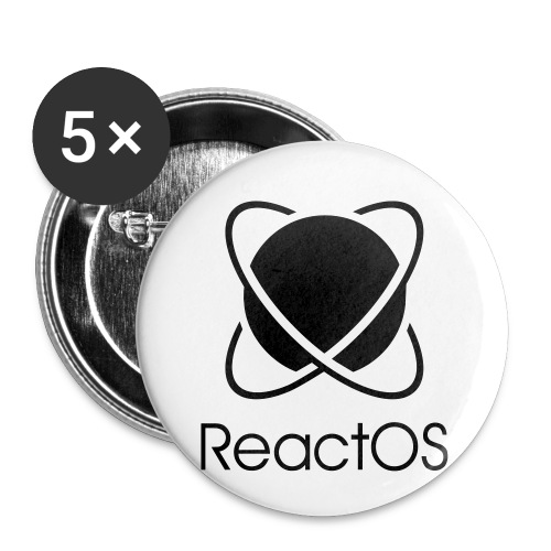 Reactos - Buttons small 1''/25 mm (5-pack)