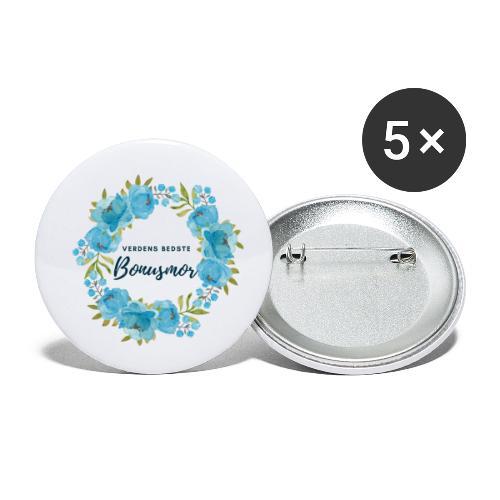 Verdens bedste bonusmor - Buttons/Badges lille, 25 mm (5-pack)