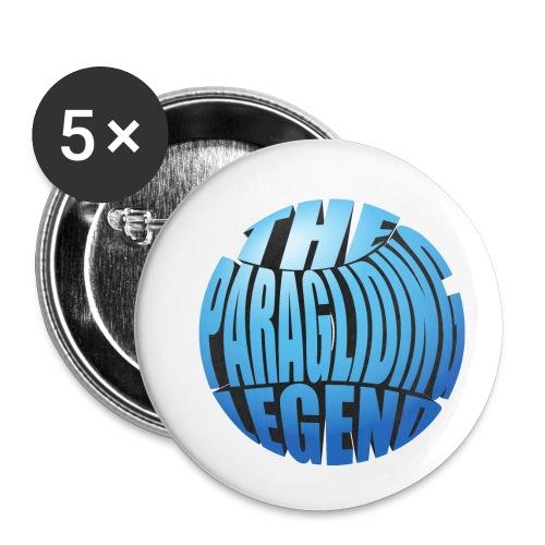 The Paragliding Legend - Buttons klein 25 mm (5er Pack)