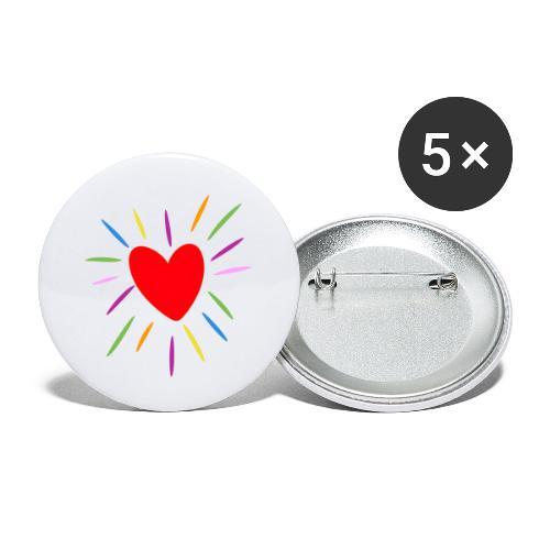 Heart - Paquete de 5 chapas pequeñas (25 mm)