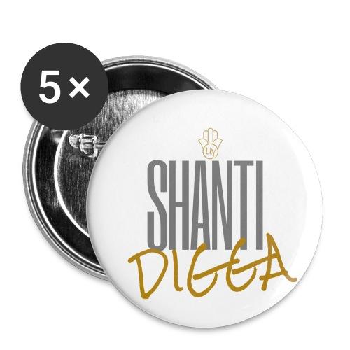 SHanti 2 - Buttons klein 25 mm (5er Pack)