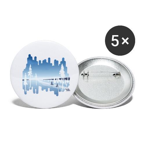 T-shirt aurora bleu - Lot de 5 petits badges (25 mm)