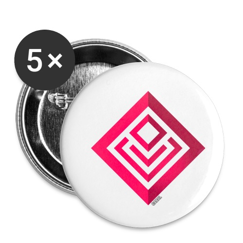 Cabal (with label) - Buttons small 1''/25 mm (5-pack)