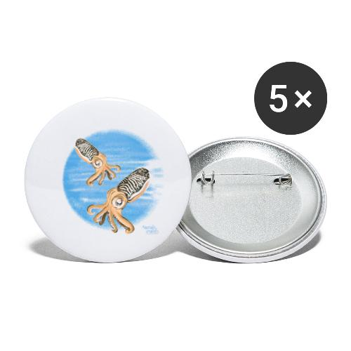 Sepia - scuba diving - Lot de 5 petits badges (25 mm)