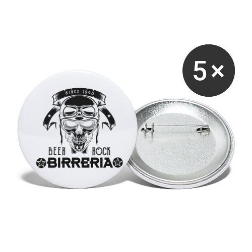 Classic Birreria Rock Skull - Buttons klein 25 mm (5er Pack)
