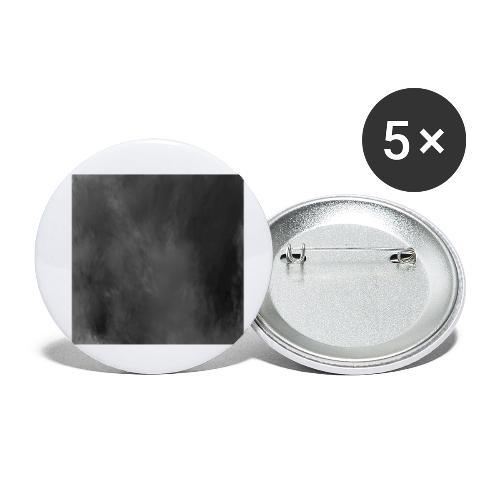 Das schwarze Quadrat   Malevich - Buttons klein 25 mm (5er Pack)