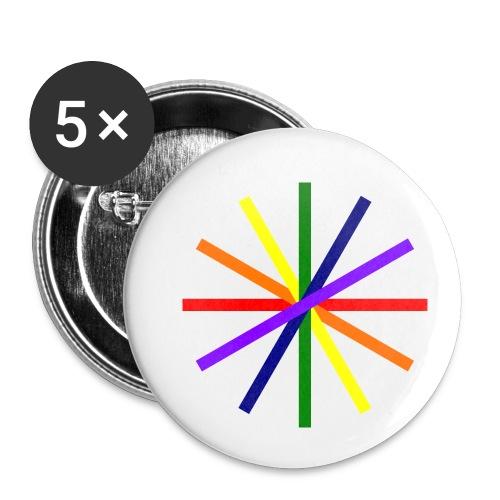Glücksrad 21.1 - Buttons klein 25 mm (5er Pack)